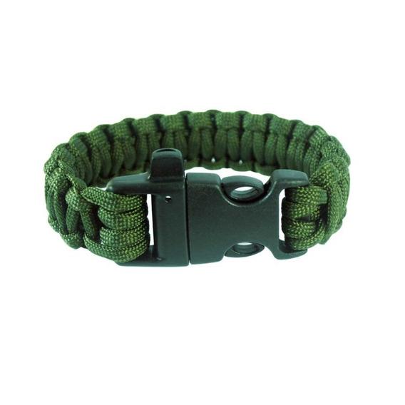 Pulseira Bracelete Survival C/ Apito Verde