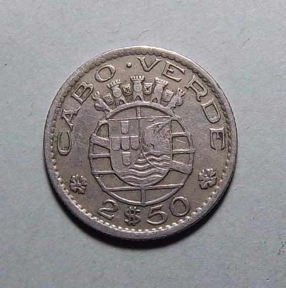 Cabo Verde 2.5 Escudos 1953 Km 9 Colonia Portuguesa