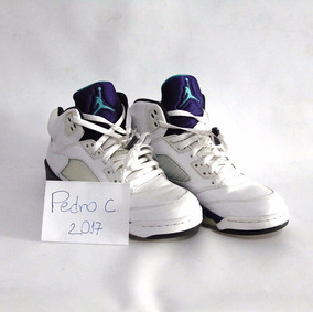 Tênis Nike Air Jordan 5 White Grape Usado