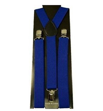 Clip-on Unisex Elásticos Tirantes Y-forma - Royal Blue