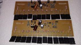 Amplificador 1000w 2 Placas Montada Com 12 Transistor
