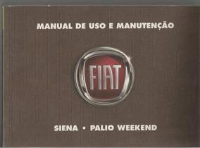 Manual Proprietário Weekend Siena G4 2008 C/ Suplementos