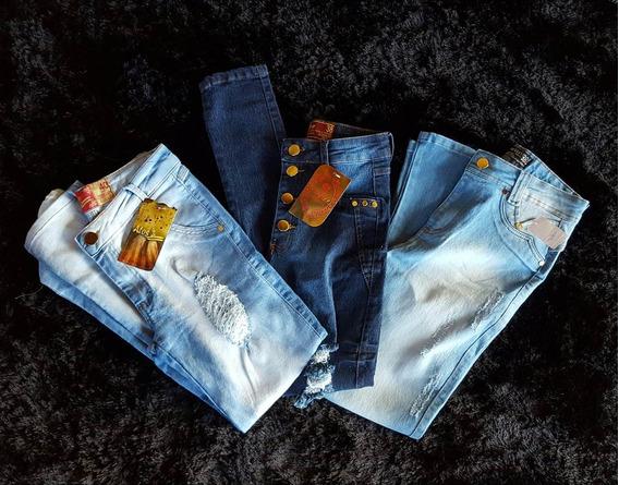 Calça Jeans Feminina Kit 5 Peça Atacado Todos Os Tamanhos