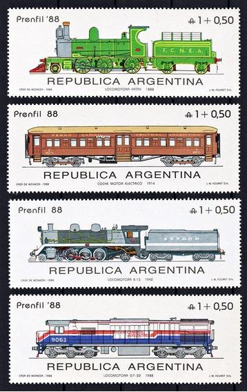 Argentina 1988 Gj 2400/03** Me 1690/93 Mint Prenfil