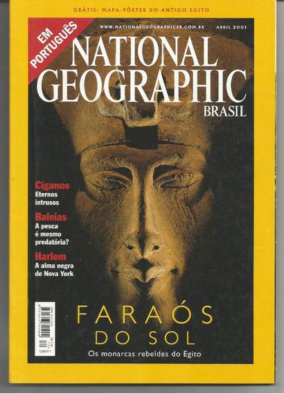 Revista National Geographic Faraós Do Sol - Abril 2001.