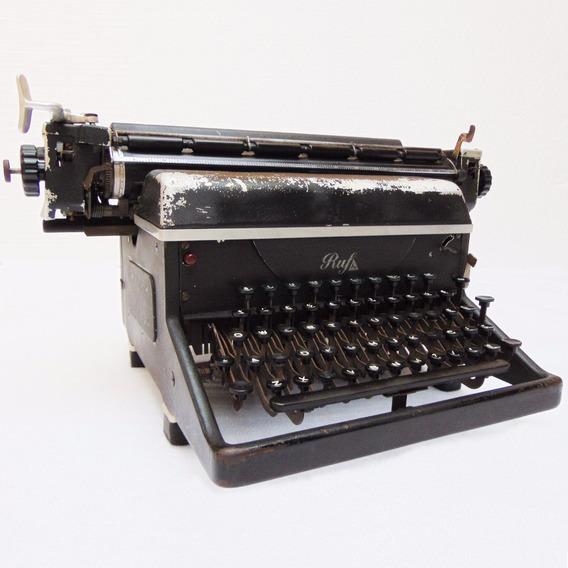 Máquina Ruf Datilografia Escrever Coleção Antigo Decoração