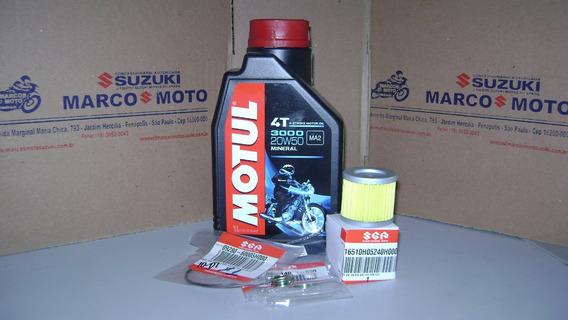 Kit Oleo Motul 3000,filtros Oleo, Oring Suzuki Yes 125