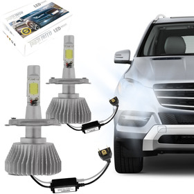 Kit Modelo Xenon Led Lampada H4 6000k Super Branca Headlight