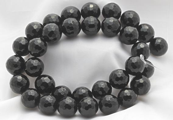 Onix Negro Natural Bola Esfera Facetada 10mm Teostone 272