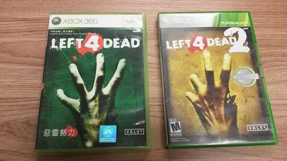 Combo Left 4 Dead 1 E Left 4 Dead 2 - Xbox360 Semi Novo