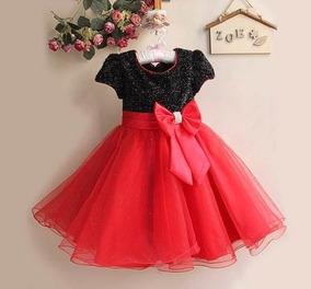 Vestido Infantil Festa Princesa Luxo Várias Cores