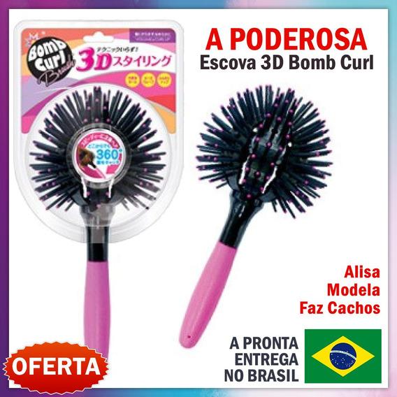 4x Escova 360° 3d Hair Bomb Curl Brush Ball Modeladora Cacho