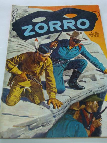 Zorro Nº 63 De 1959 Ebal Coleção Gibi Raro Antigo Excelente