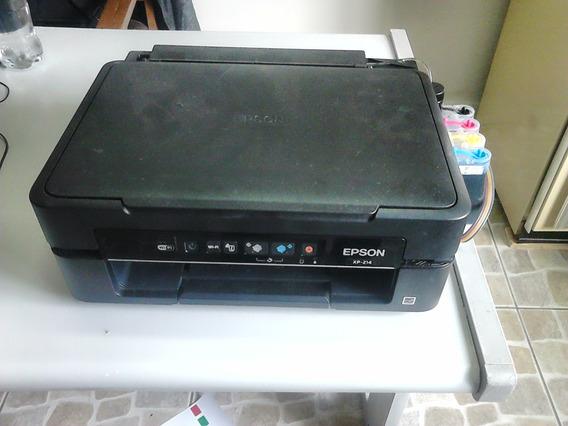 Impressora Epson Xp214 Com Bulk De Tinta Instalado