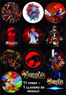 11 Pines Prendedores + 1 Llavero Thundercats Comics Dibujos