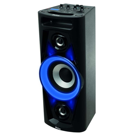 Caixa Acústica Som Bluetooth Amplificada 100w Usb Philco Top