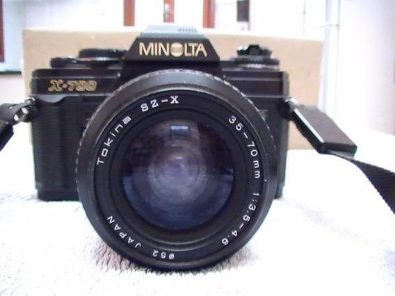 Câmera Fotográfica Antiga Minolta X-700 Para Coleção