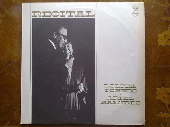 Lolita Torres Y Ariel Ramírez - Recital. Disco De Vinilo Lp