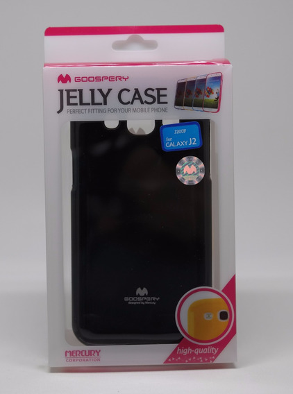 Funda Samsung Galaxy J2 Mercury Goospery Jelly Case Negro