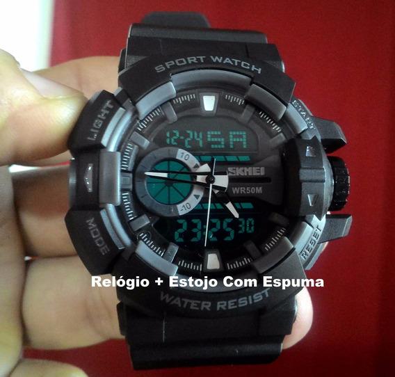 Relógio Masculino Militar S Shock Digital A Prova Dágua 1117