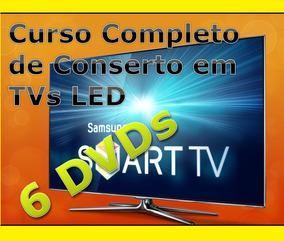 Curso Tv Led Lcd 7 Dvds Vídeo Aulas Apostila Sony Ref-324