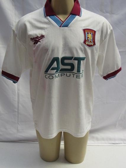 Antiga Camisa De Futebol - Aston Villa Inglaterra 1996/97 Jj