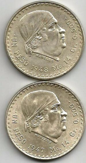 Peso Cacheton 1947-1948 Los 2 Por $250.00