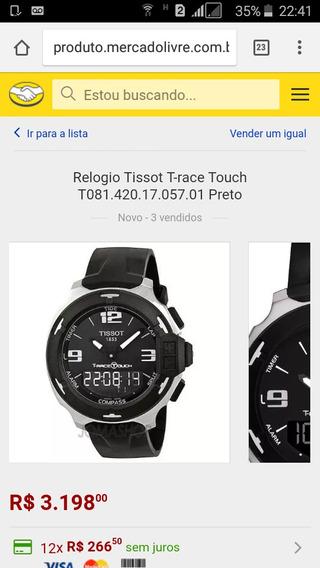Vendo Relógio Tissot T-race Touch