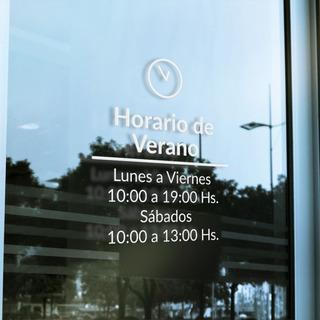 Cartel De Horario | Vidriera | Ploteo | Local Comercial