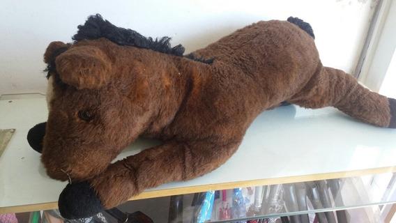 Cavalo Marrom Pelúcia 75cm Fao Original Olhe Fotos