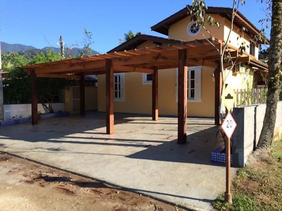 Ref.: 581 - Casa Condomínio Fechado Em Ubatuba, No Bairro Horto Florestal - 4 Dormitórios