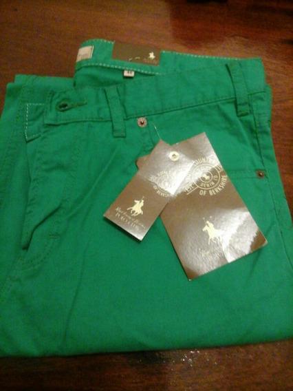 Pantalon Jean De Color Verde Polo Talle 50