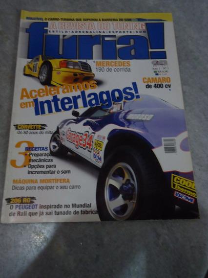Revista Furia Nº 1 - Corvette Peugeot 206 Victoria Camaro Ss