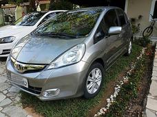 Honda Fit Lx Aut 2014 - Couro Rodas Vidros - Muito Novo