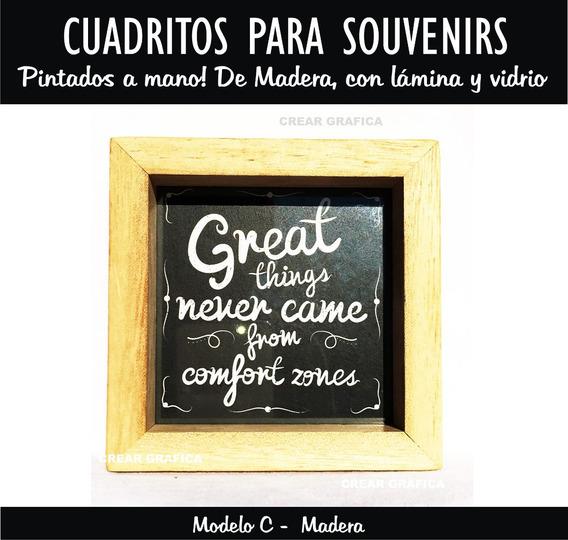 Portarretrato Souvenir. Pintado En Madera, Lamina Y Vidrio