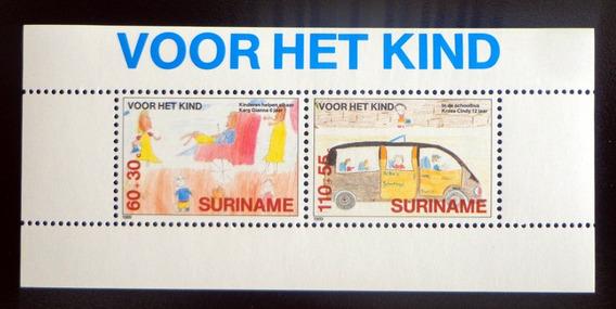 Surinam Infantil, Bloque Sc. B376a Ayuda 1989 Mint L8752