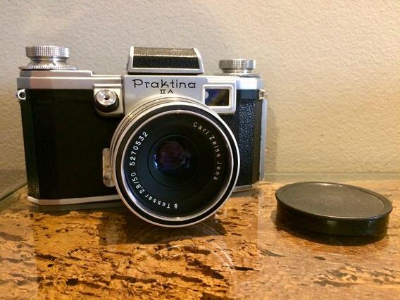 Câmera Praktina Ii A Com Lente Carl Zeiss Tessar 50mm F/2.8