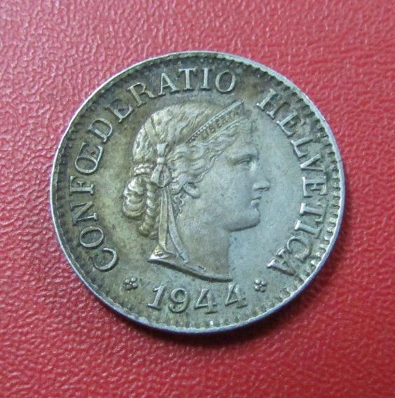 Suiza Moneda Confederación Helvetica 10 Centimos Au 1944 B