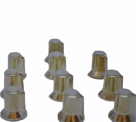 20 Knob Botão Gira P Potenciômetro Eixo Estriado Dourado