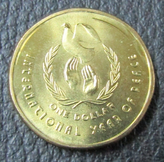 Australia Moneda 1 Dolar 1986 Unc Año Internacional De Paz