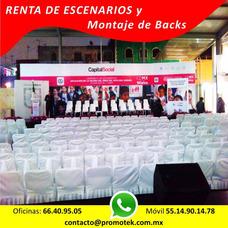 Renta Escenarios Back Stands Templetes Escenografias Eventos