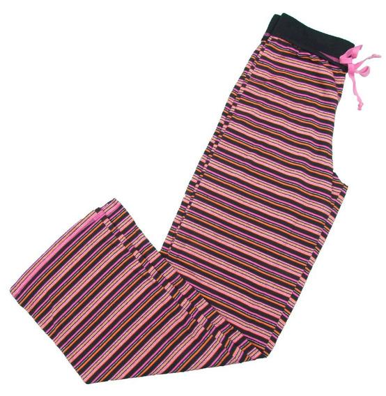 Calça Avulsa De Pijama Em Malha Listrada