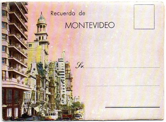 Recuerdo De Montevideo Ca 1930 (12 Vistas Diferentes)