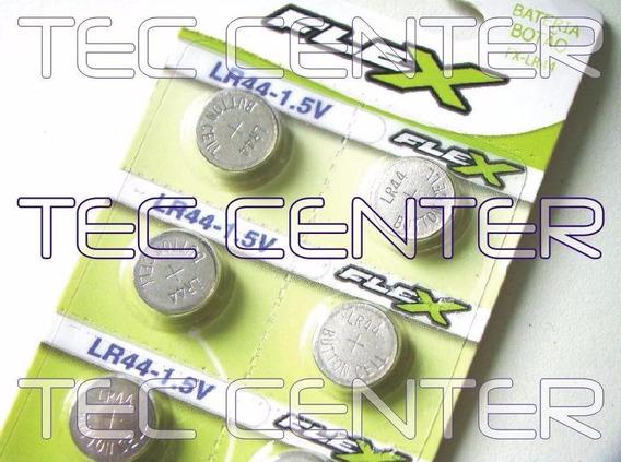 Bateria/pilha Lr44 Flex - Cartela C/ 14 Unid - Original!