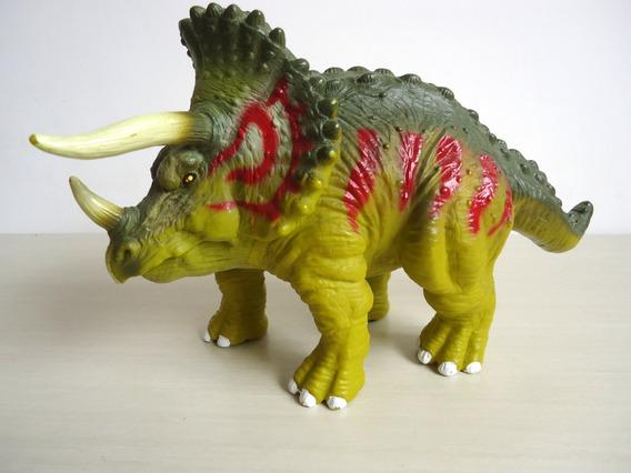 Dinossauro Triceratops 22 Cm De Comprimento !!