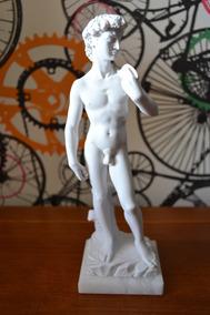 Escultura David De Michelangelo Marmore 37cm Made In Italy