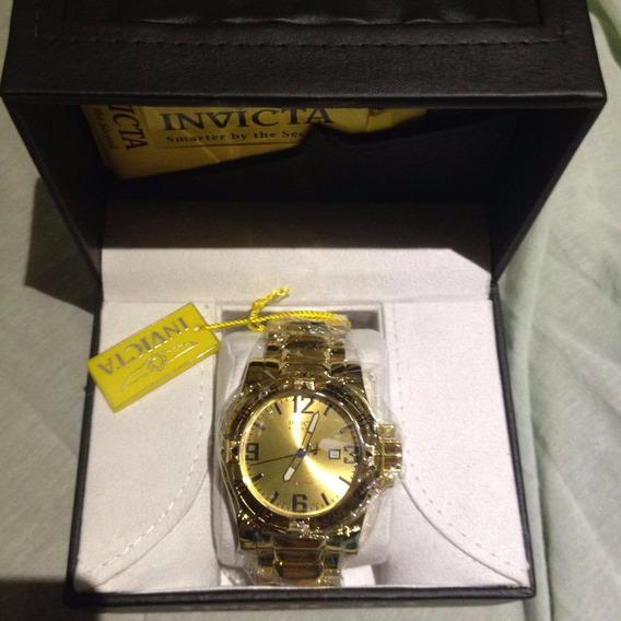 Relógio Invicta Excursion Reserve Ouro 18k