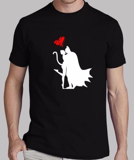 Playera Yazbek Para Caballero Love Batman Vs Cat Woman