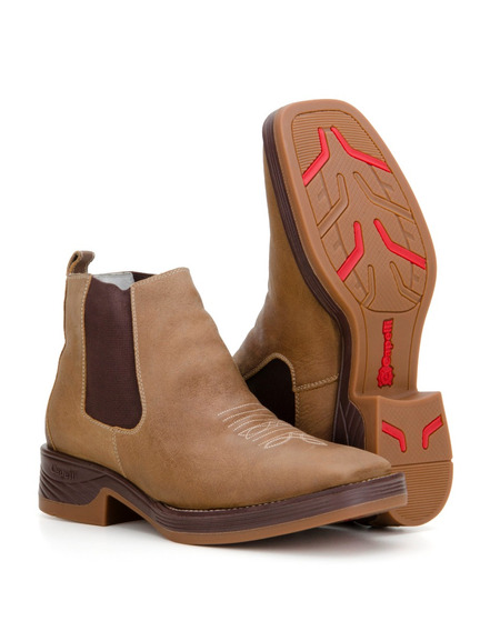 Botina Masculina Texana Country Couro Bota Capelli Boots