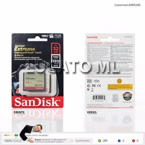 2x Cartão Compact Flash Sandisk 32gb + Frete Grátis 12x S/j